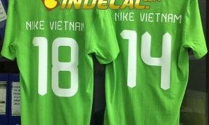 Cắt decal ép nhiệt in áo đá bóng lấy liền giá rẻ tại Tp.HCM