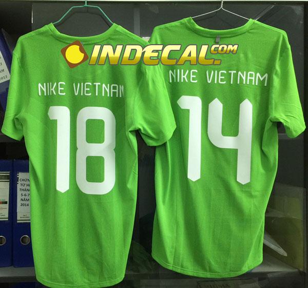 Cắt decal ép nhiệt in số áo đá bóng - khách hàng Nike Vietnam