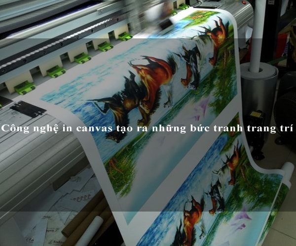 Công nghệ in canvas tạo ra những bức tranh trang trí
