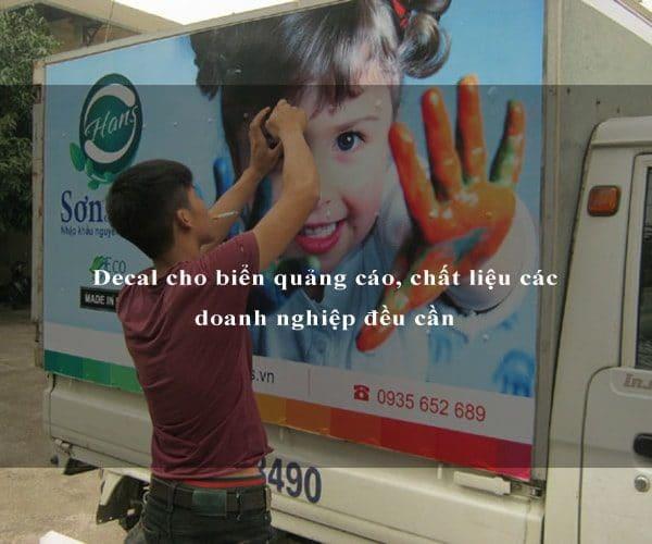 Decal cho biển quảng cáo, chất liệu các doanh nghiệp đều cần 1