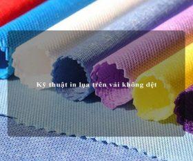 In lụa trên vải không dệt