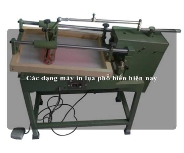 Các dạng máy in lụa phổ biến hiện nay 2