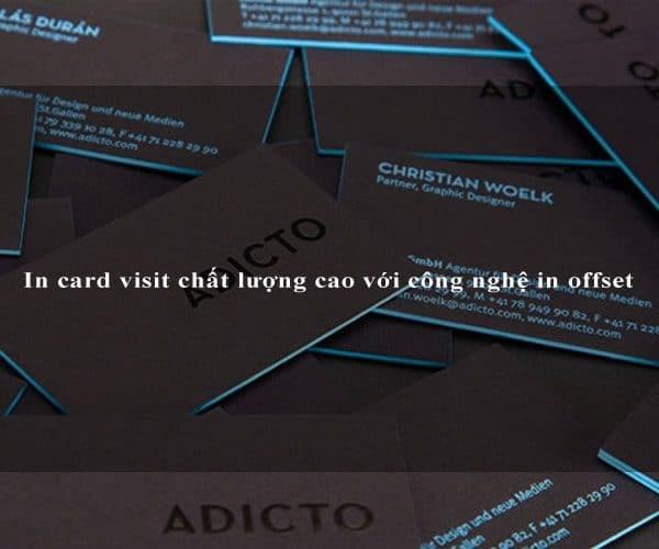 In card visit chất lượng cao với công nghệ in offset 4