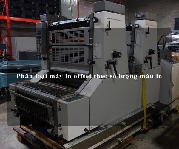 Phân loại máy in offset theo số lượng màu in 2