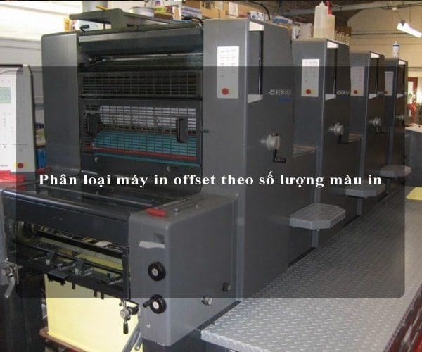Phân loại máy in offset theo số lượng màu in 3