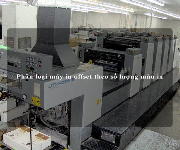 Phân loại máy in offset theo số lượng màu in 4