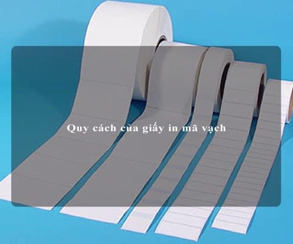 Quy cách của giấy in mã vạch 2