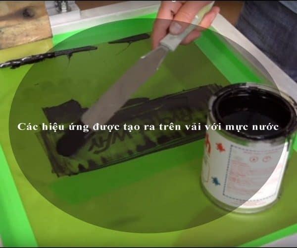 Các hiệu ứng được tạo ra trên vải với mực nước 4