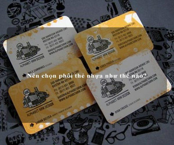 Nên chọn phôi thẻ nhựa như thế nào? 4