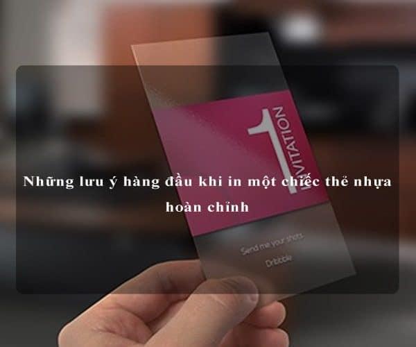 Những lưu ý hàng đầu khi in một chiếc thẻ nhựa hoàn chỉnh 5