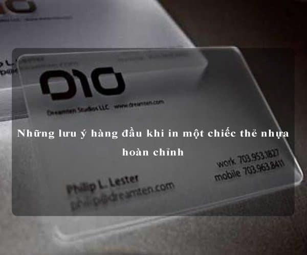 Những lưu ý hàng đầu khi in một chiếc thẻ nhựa hoàn chỉnh 4